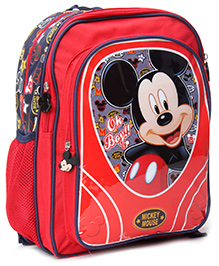 Mickey Mouse and Friends School Bag Oh Boy Print Red - 16 Inch