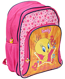 Tweety School Bag Pink - 18 Inches