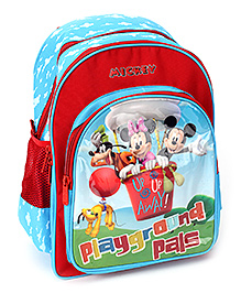 Mickey Mouse And Friends School Bag - Blue And Red