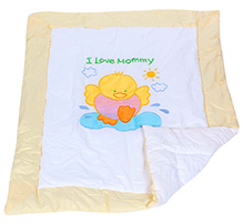 Baby Blanket Duck Patch Work Off White