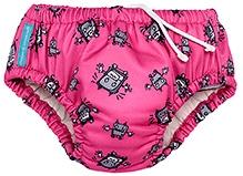 Charlie Banana 2-in-1 Swim Diaper N Training Pants Pink Large - Robot Print