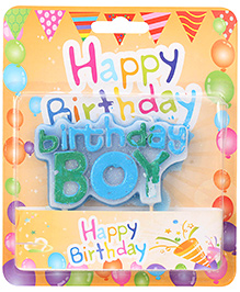 Birthday Candle Multicolor - Birthday Boy Theme