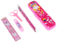 Pencil Box with Stationery Set - Pink