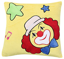Fab N Funky Baby Pillow Cushion Joker Print - Yellow