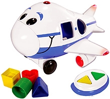 Learning Journey Remote Control Shape Sorter Jet Plane - White and Blue