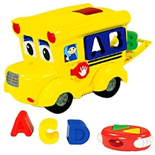 Learning Journey Remote Control Shape Sorter Letterland School Bus - Yellow