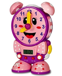Learning Journey Telly The Teaching Time Clock - Pink