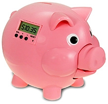 Learning Journey Piggy Bank with LCD - Pink