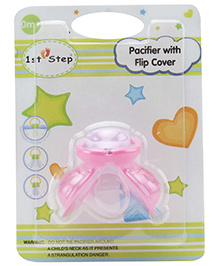 1st Step Pacifier With Flip Cover - Pink