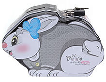 Money Bank Rabbit Shape Grey