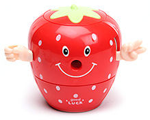 Strawberry Shaped Pencil Sharpener - Red