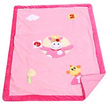 Fab N Funky Baby Blanket Toy Print - Pink