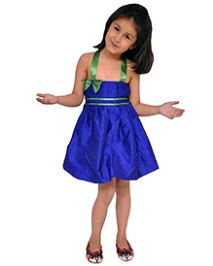 Kidzblush Royal Blue Singlet Plain Party Frock