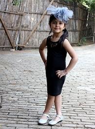 Kidszblush Black Sleeveless Bodycon Dress