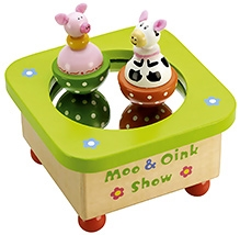 Tidlo Wooden Moo And Oink Music Box