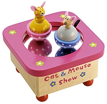 Tidlo Wooden Cat And Mouse Music Box