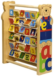 Tidlo Wooden Teddy The Letter And Number Flipper