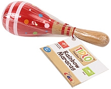 Tidlo Wooden Rainbow  Maracas - Red