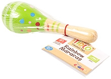 Tidlo Wooden Rainbow  Maracas - Green