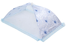 Fab N Funky Mosquito Net Floral Designed - Light Blue