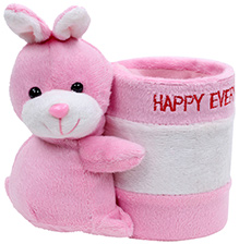 Pink Rabbit Pattern Pencil Holder - Happy Everyday Print