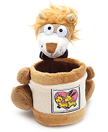 Pencil Holder With Soft Toy Light Brown - 13 X 15 X 16 Cm