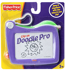 Fisher Price Doodle Pro Clip On Drawing Board - Purple