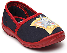 Tom And Jerry Printed Canvas Shoes - Navy Blue N Red