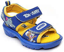 Tom And Jerry Yellow And Blue Velcro Strap Sandal