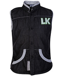 Little Kangaroos Sleeveless Jacket - Black