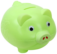 Fab N Funky Piggy Bank - Green