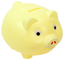 Fab N Funky Piggy Bank - Yellow