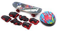 Fab N Funky Skating Set Piano Print - Red and Blue