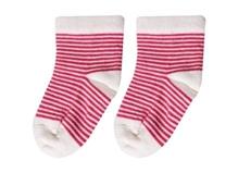 Cotton Socks - Dark Pink Stripes