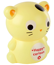 Fab N Funky Coin Bank Kitty Shape - Yellow