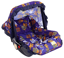 Mee Mee 3 In 1 Carry Cot - Bear Print Blue And Orange