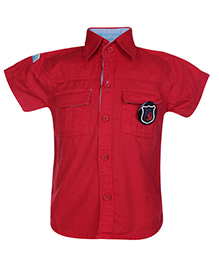 Little Kangaroos Half Sleeves Shirt - Red