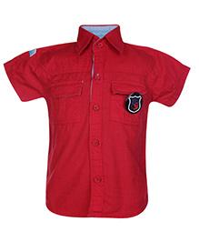Little Kangaroos Half Sleeves Shirt - Red