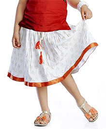 DotnDitto Hand Blocked Ethnic Skirt