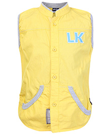 Little Kangaroos Sleeveless Jacket - Yellow