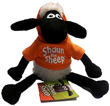 Shaun the Sheep Sitting Plush with Removable Hoody Toy - 25 cm