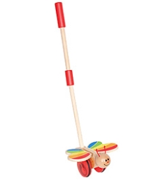 Hape Wooden Butterfly Push and Pull Toy