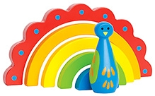 Hape Wooden Peacock Curves Stacking Toy