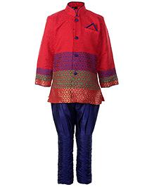 SAPS Full Sleeves Kurta With Jodhpuri Style Pajama