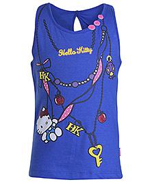 Hello Kitty Sleeveless Top Blue - Key Print