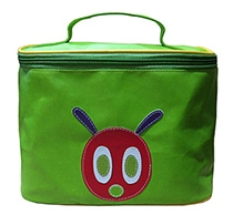Herberto Travel Bag with Handle and Caterpillar Face Patch - Green