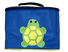 Herberto Travel Bag with Handle and Turtle Patch - Blue