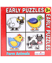 Creative's - Early Puzzles 4 Shaped Puzzles Farm Animals
