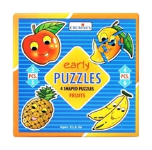 Creative's - Early Puzzles - 4 Shaped Puzzles Fruits