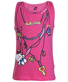 Hello Kitty Sleeveless Top Pink - Key Print